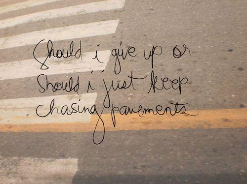 adele chasing pavements lyrics - Google Search