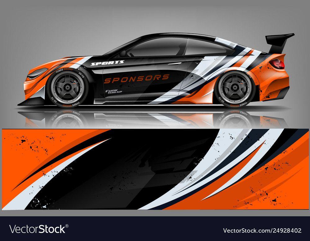Car decal wrap design Royalty Free Vector Image ,
