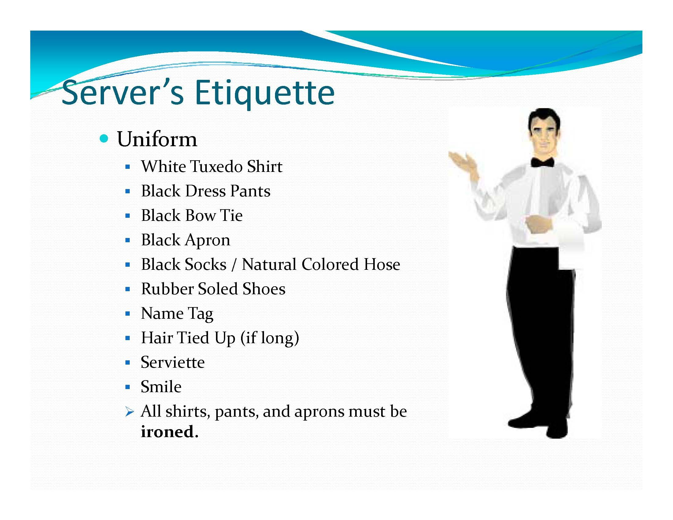 Page 3 - Banquet Server Training | Banquet/Catering Menus & Setups ...