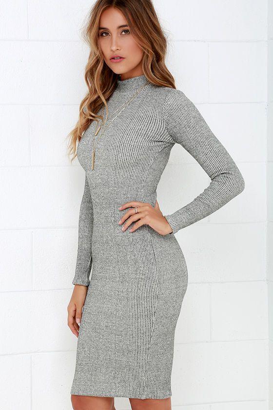 f5a5134c9a5e4 I Mist You Heather Grey Midi Sweater Dress   fashion-smashion ...