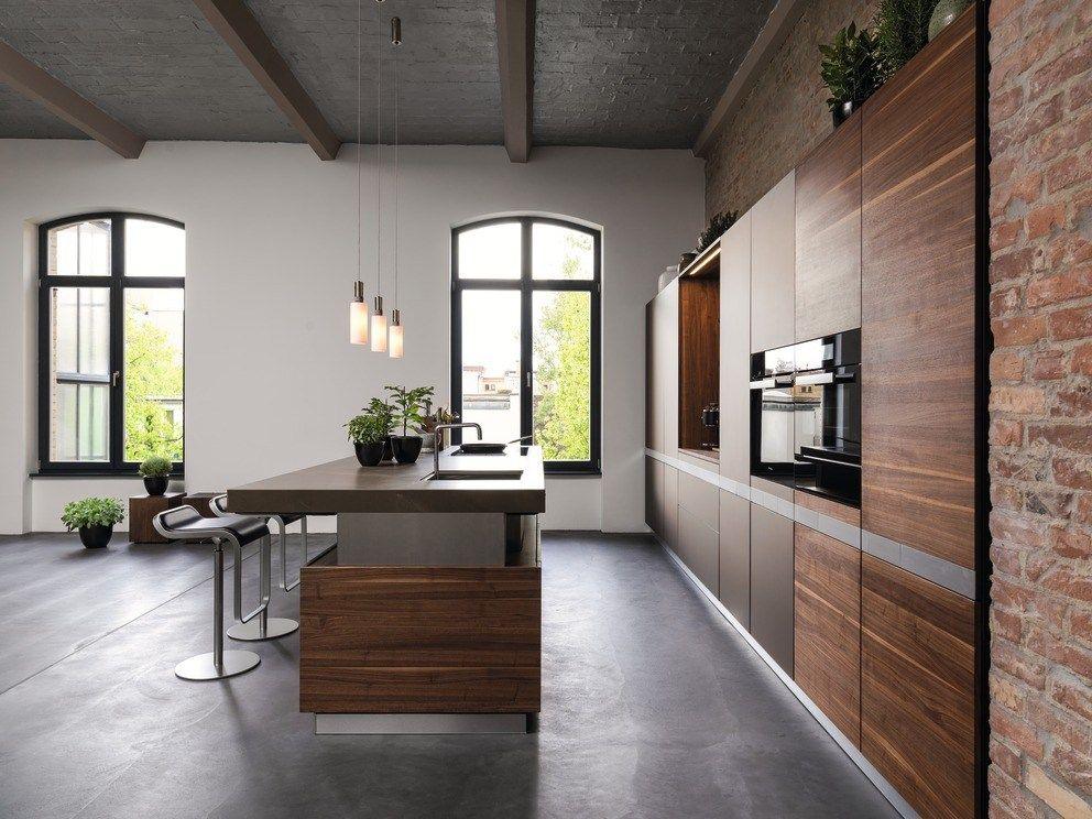 Solid wood kitchen with island k7 - TEAM 7 Natürlich Wohnen living