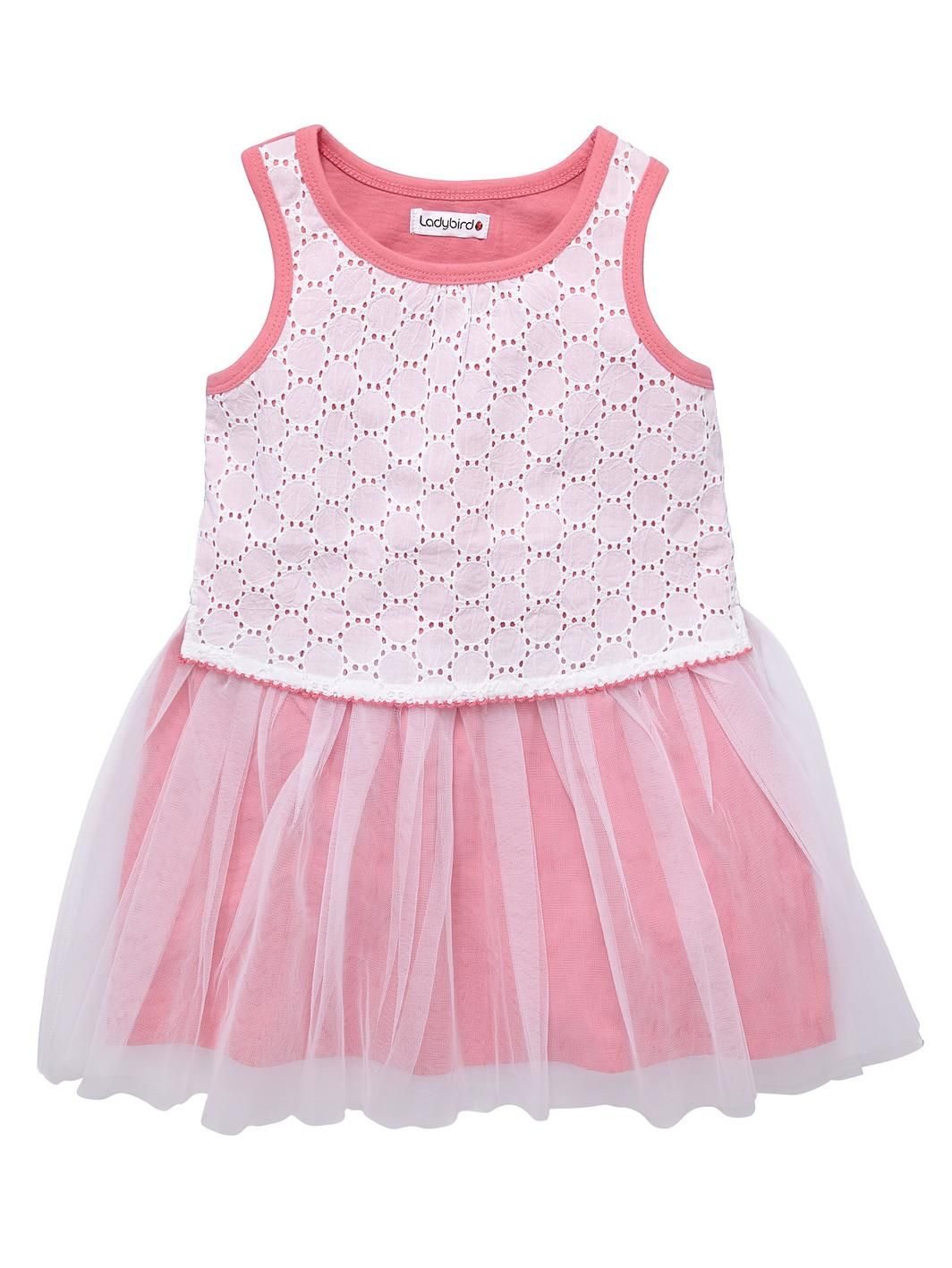 e094a29e52ac Girls Schiffli and Mess Detail Dress