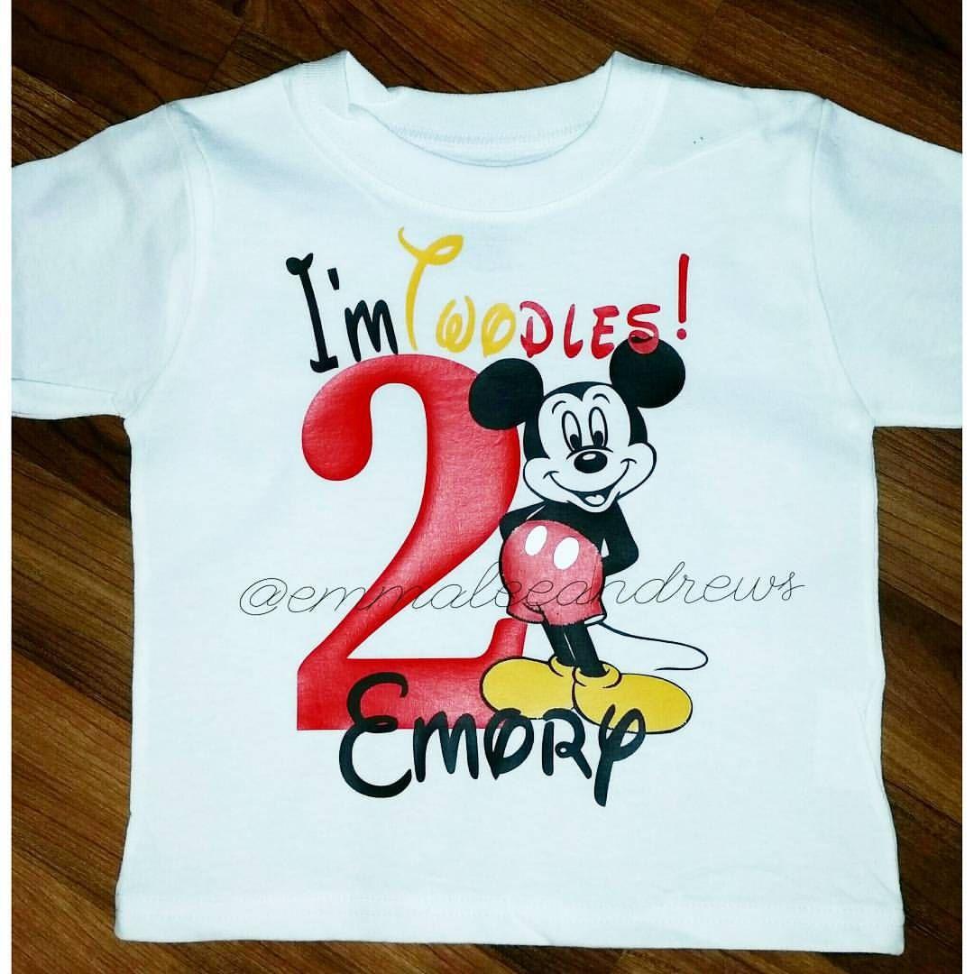 Im Twodles Mickey Mouse Birthday Shirt Disney Disneyworld Disneyland Walt Minnie Vinyl Tee Monogram Monogrammed By EmmaleeAndrews