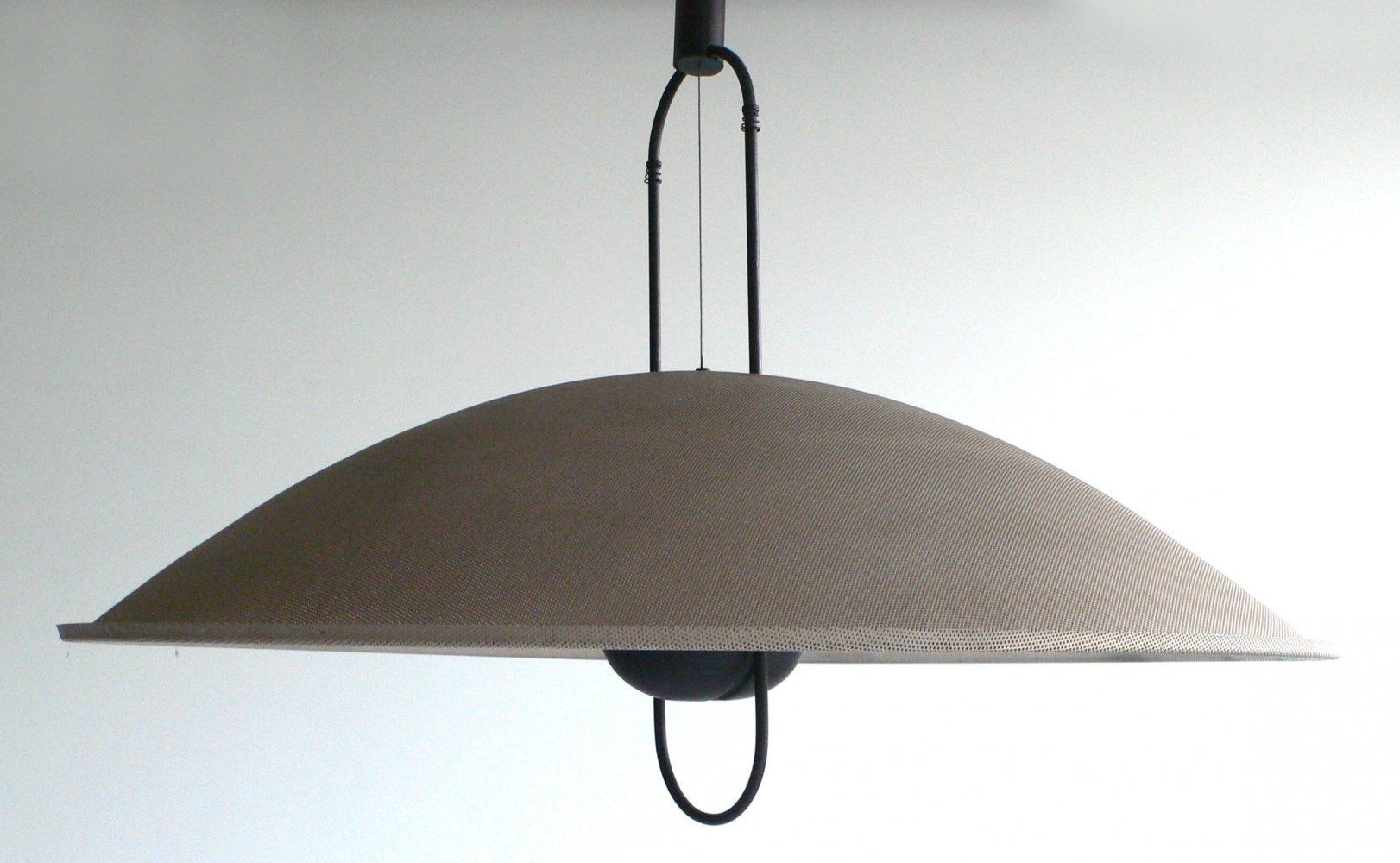 Three Armed Adjustable Ceiling Light With Casquette Shades In