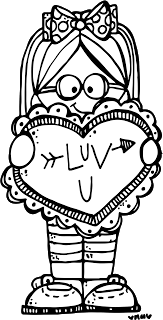 39+ Valentines day card black and white clipart info