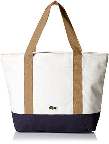 4dc88c9c306f0 Lacoste Women s Summer Medium Canvas Shopping Bag