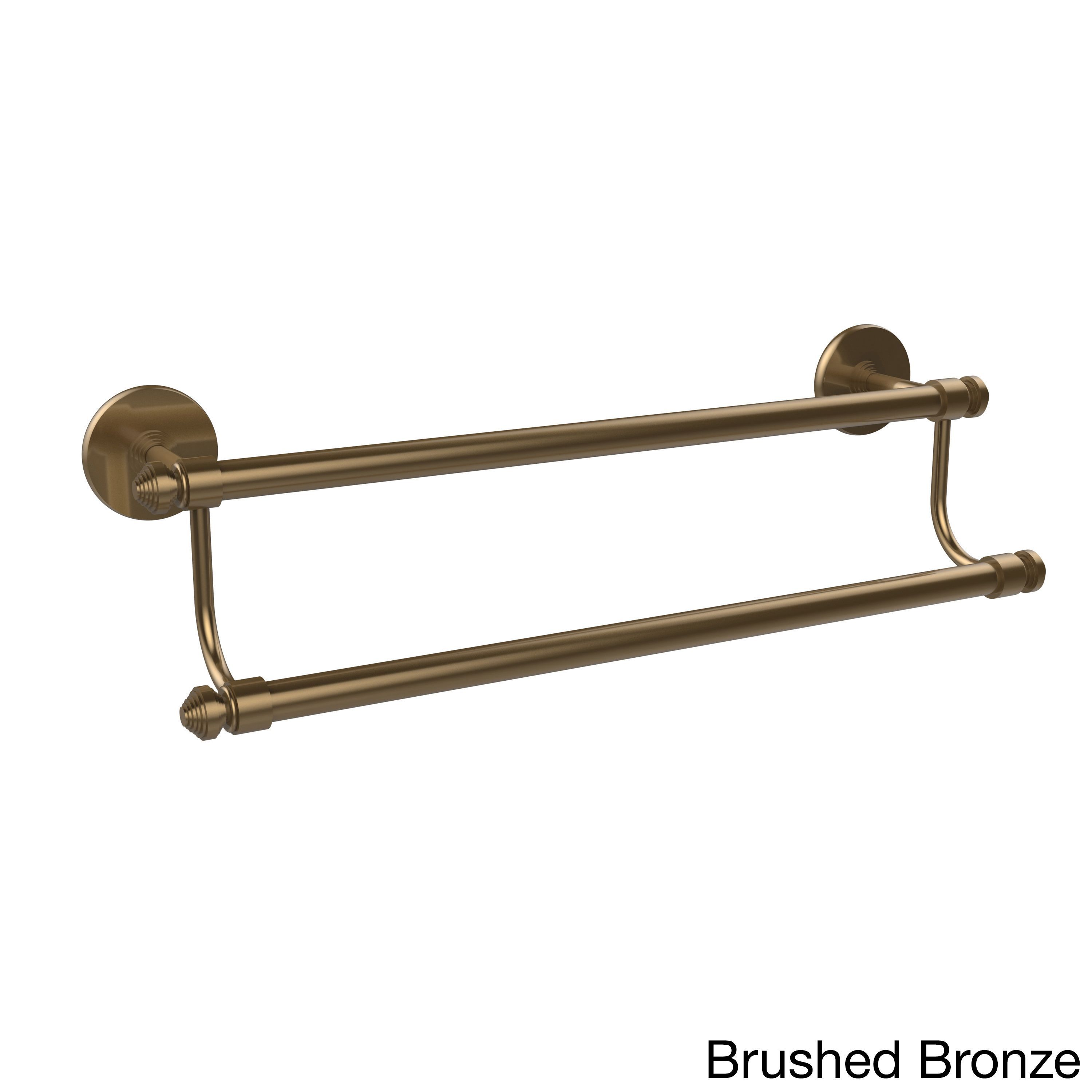 Allied Brass Southbeach Collection 18-inch Double Towel Bar (Brushed Bronze), Clear