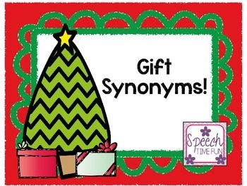 Synonyms are an important concept to teach because they truly help grow students' vocabularies! This free resource is designed as a memory matching game and comes complete with a graphic organizer. Plus, it's holiday-themed, so it will help therapy feel more festive!***************************************************************************What awesome resources are included?