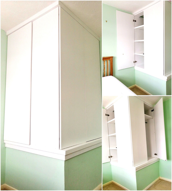 Bespoke Furniture Built Over A Stair Bulkhead Stairs Bulkhead Stair Box In Bedroom Box Room Bedroom Ideas