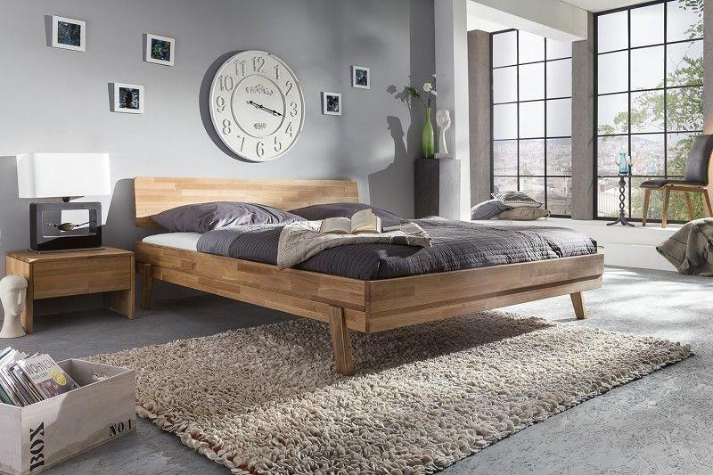 Bett Wildeiche 140x200x82 natur geölt WOODLIVE Jetzt bestellen unter - komplett schlafzimmer mit matratze und lattenrost