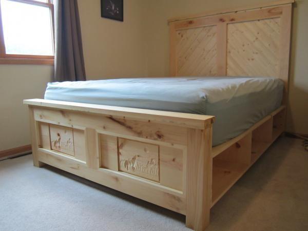 Gorgeous Diy Wood Storage Bed Wood Bed Frame Diy Pine Beds Diy