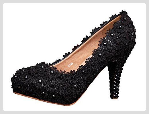 Damen Pumps, schwarz - Black-10cm Heel - Größe: 39 Minitoo