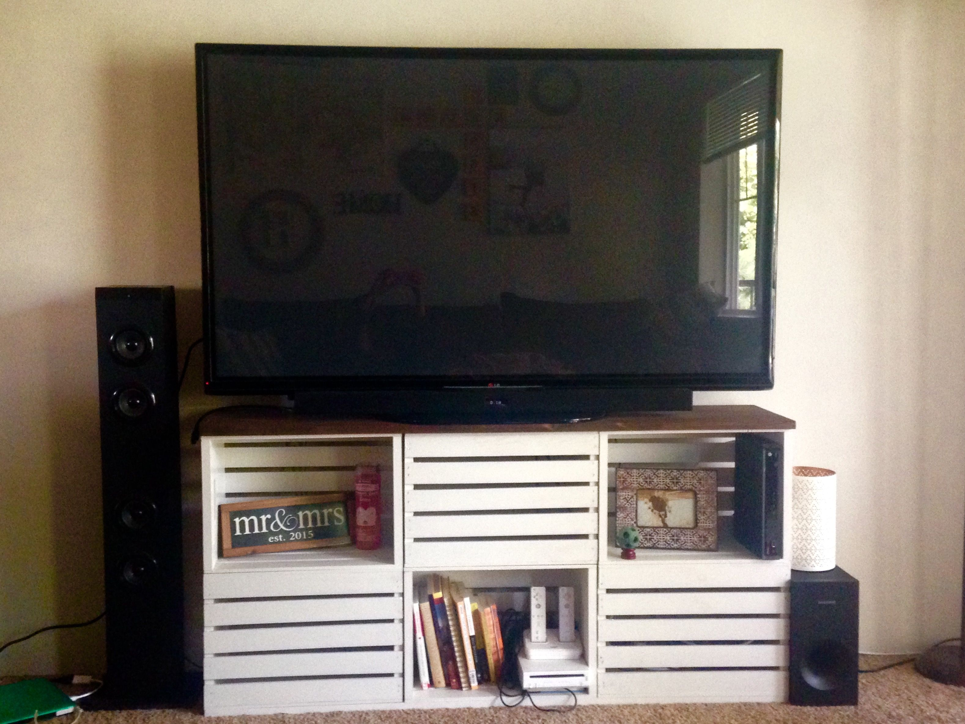 Crate TV stand Apartment Me Pinterest