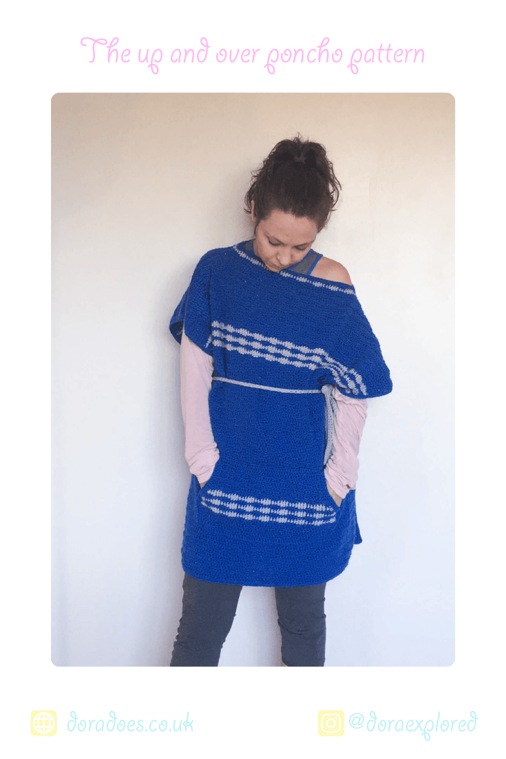 The Up and Over Crochet Poncho | Easy crochet patterns, Crochet ...