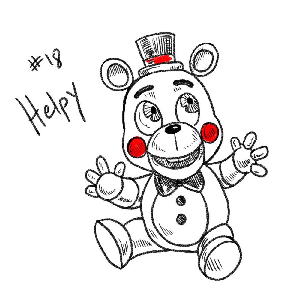 Jenniferstolzer Five Nights At Freddy S Inktober 2018 Day 18 Helpy Helpy Is Adorable Fnaf Art Fnaf Funny Fnaf Characters