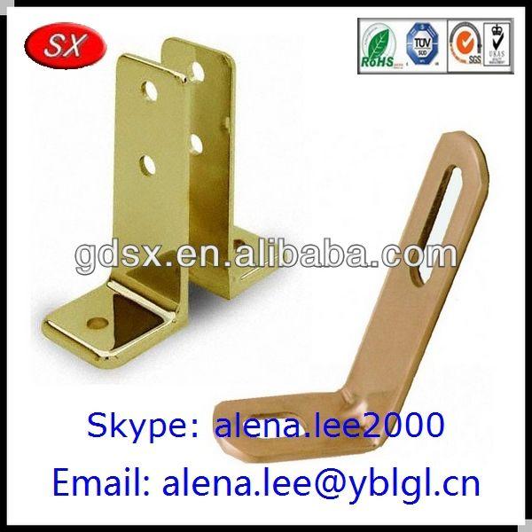 ISO9001 passed copper&brass l bracket/various brass shelf brackt/custom l bracket brass