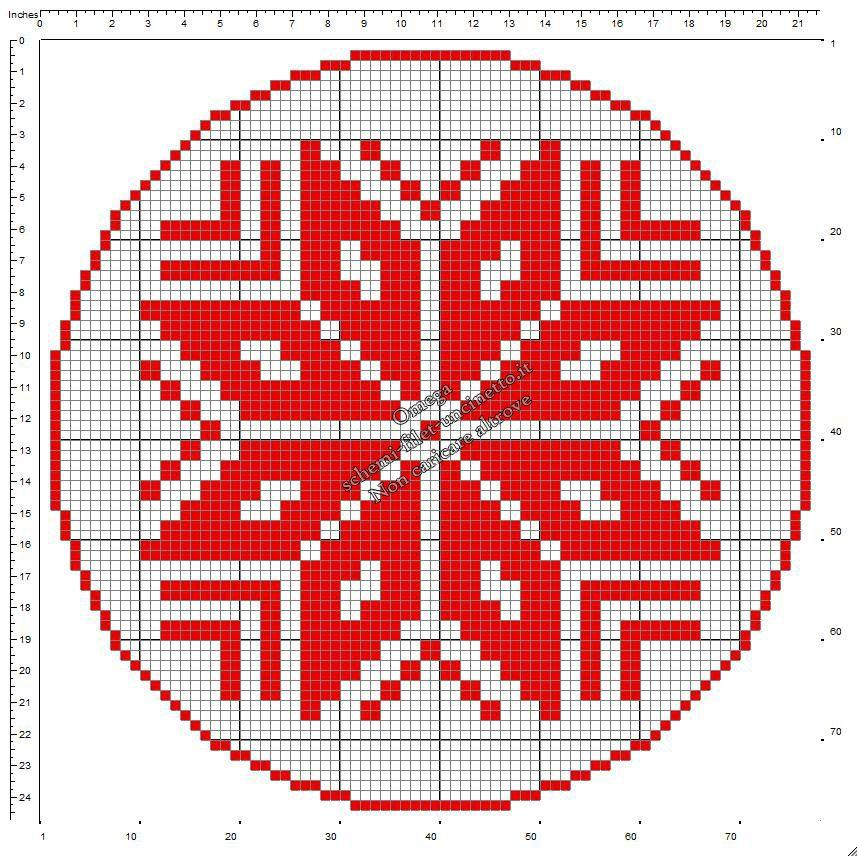 Centrino Natale Con Stella Di Natale Schema Uncinetto Filet Gratis