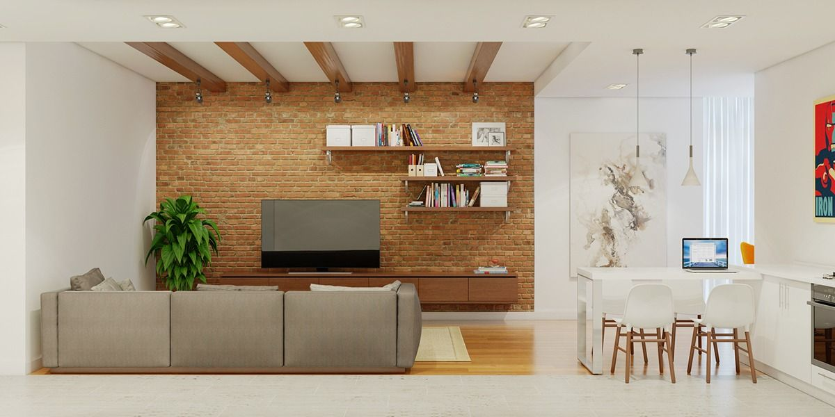 Perfect 3 Stunning Homes With Exposed Brick Accent Walls