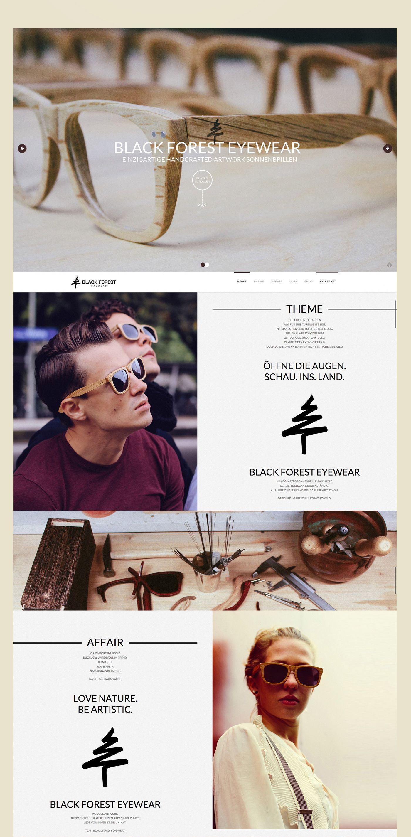 Black Forest Eyewear Schwarzwald Brille Web Design