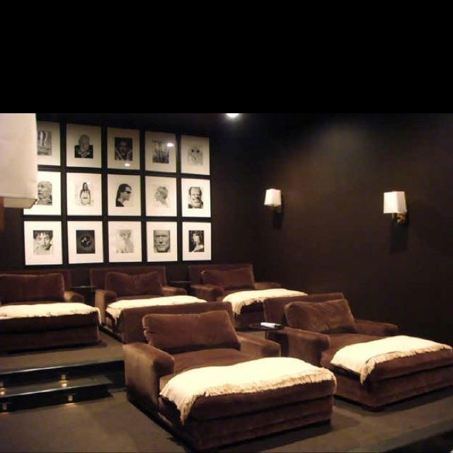 Home Theater Pictures Home Theater Room Seating Modern: Idk Bout A Theater Room In My Home But If I Had One Itd Be
