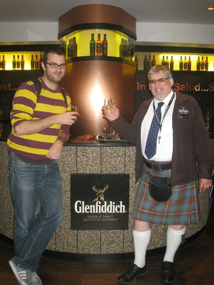 Me at the Glenfiddich distillery..they import all their Barley from hull!
