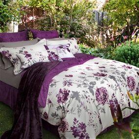 ella bedding collectionross thompson. watercolours of purple