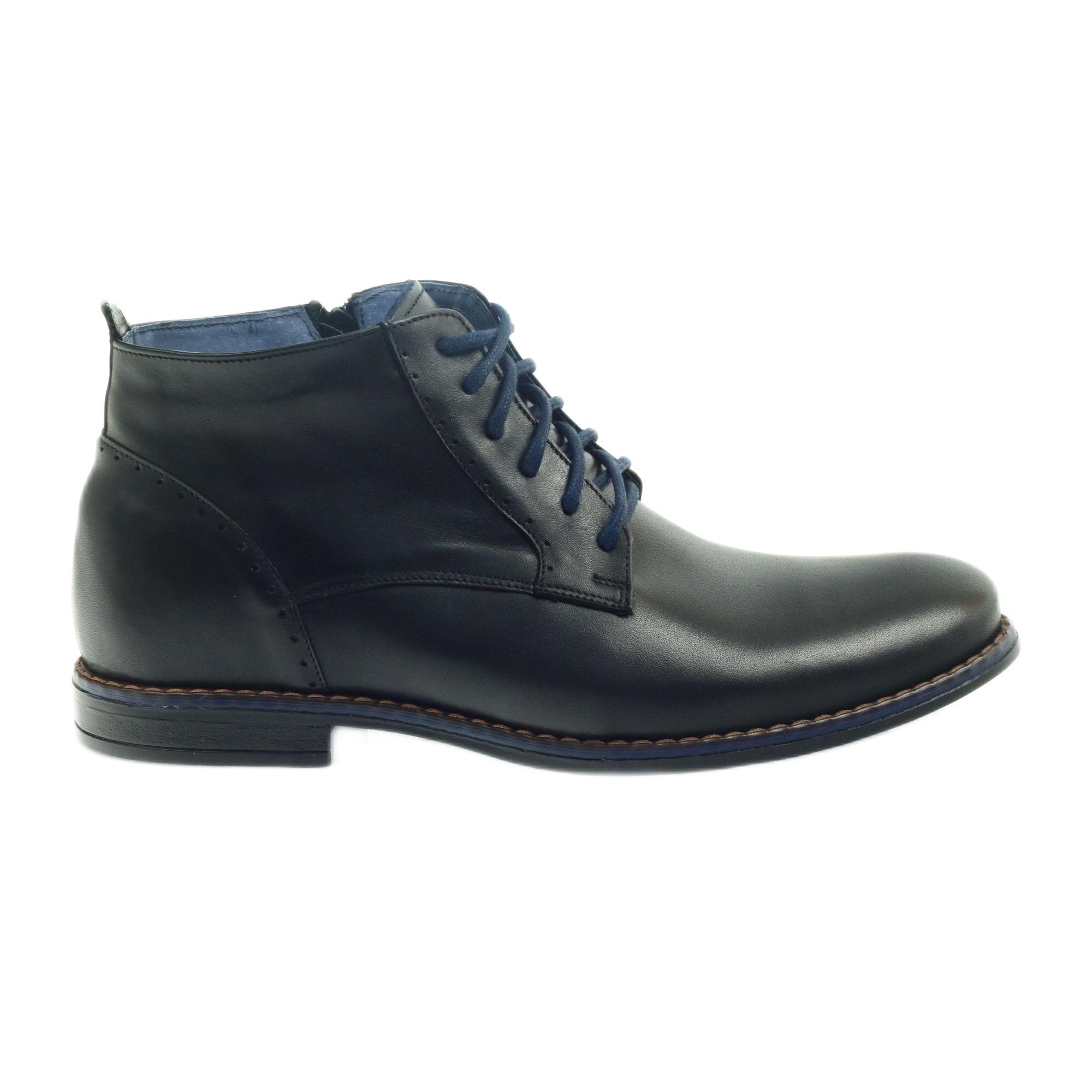 Botki Zimowe Na Suwak Czarne Nikopol 677 Zipper Boots Winter Boots Boots