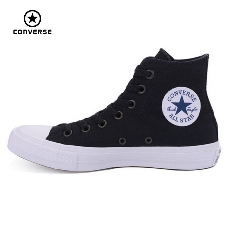 New Converse Chuck Taylor II All Star shoes unisex high sneakers canvas  blue black color Skateboarding Shoes 150143C f032902e5bf3