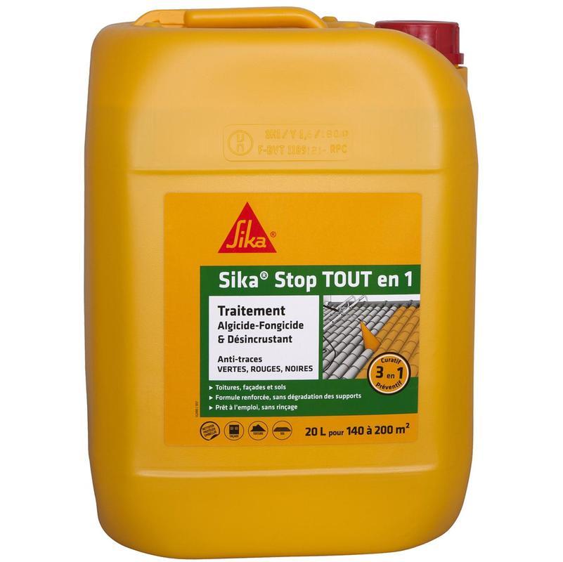 Traitement Curatif Et Desincrustant Sika Sikastop Tout En 1 20l 552459 Fibre Ciment Traitement Pulverisateur