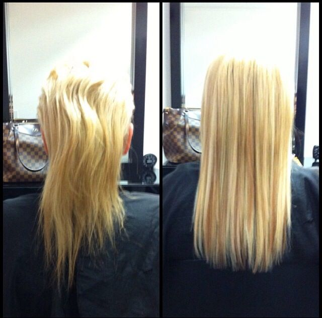 Hair Extensions Before And After Loop And Lock Hot Hair