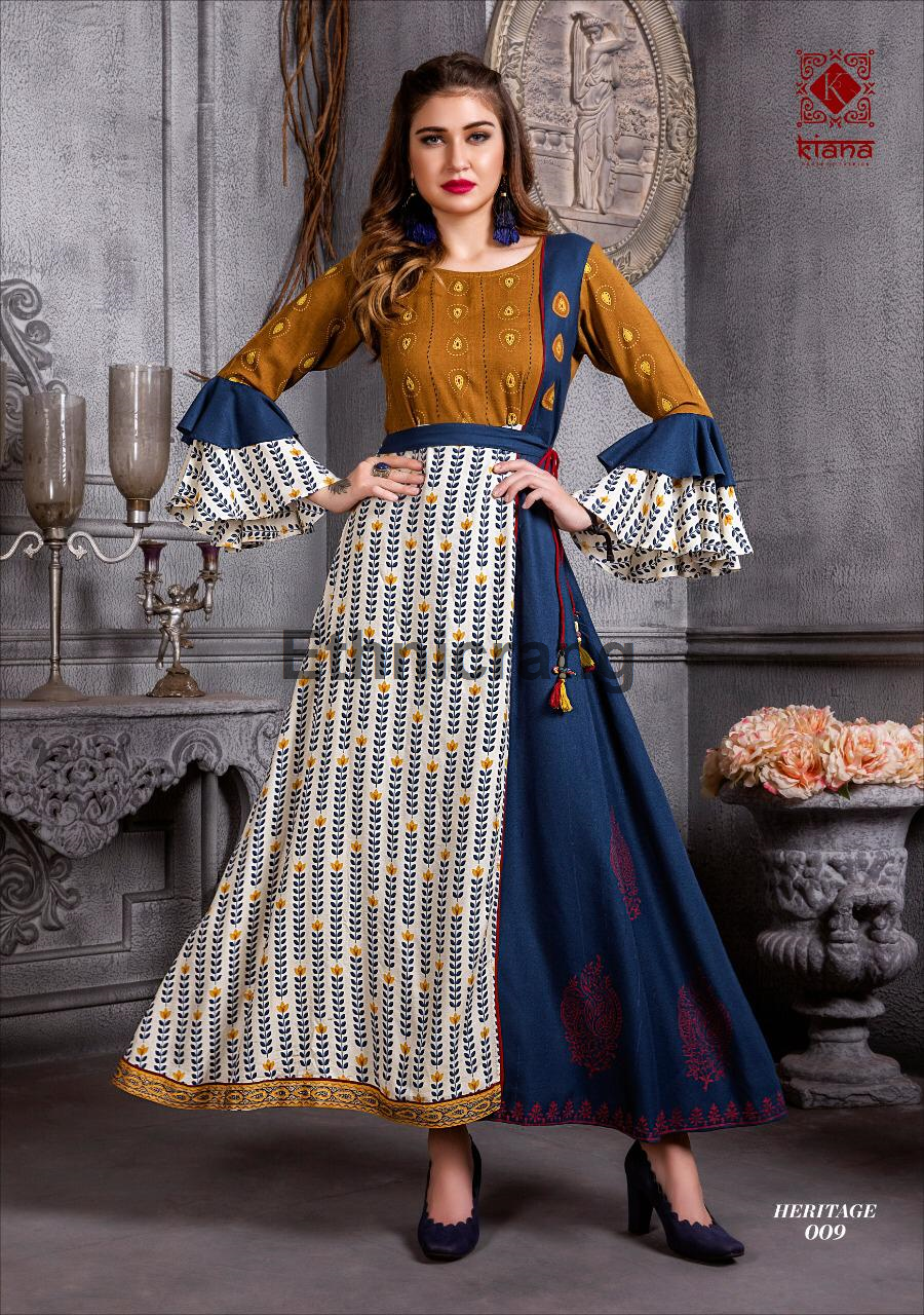 2935cbd314 The Test of Premium Collection Kiana house of fashion Catalogue Name-  HERITAGE Details Fabrics :- 14kg Reyon and , Cottan flex , cora silk,with  manual work ...