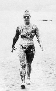 Gertrude Ederle Swimming the English Channel in 1926