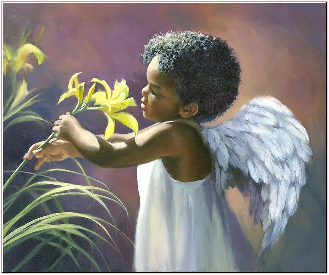 Black Jesus Wall Art: African American Angels Art