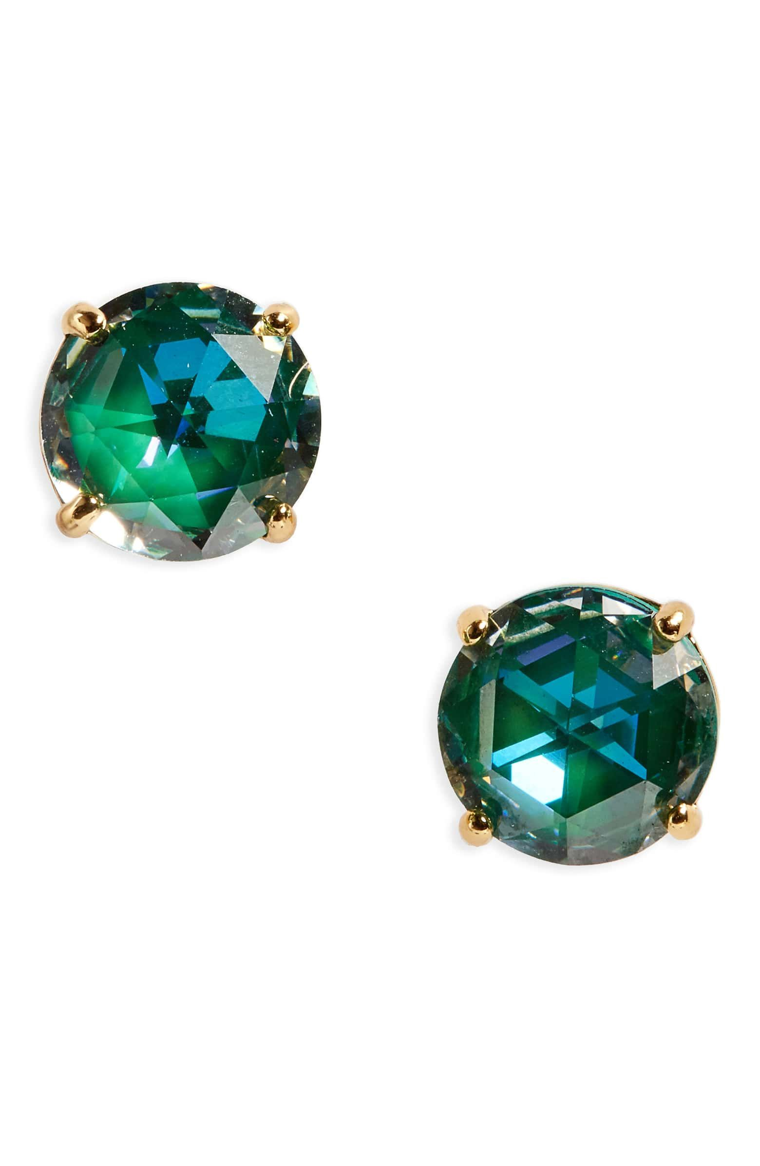 For Me Bright Idea Stud Earrings Main Color Emerald