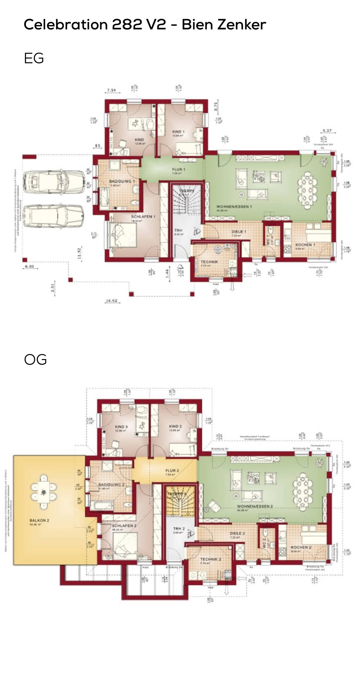 Zweifamilienhaus Grundriss mit Einliegerwohnung