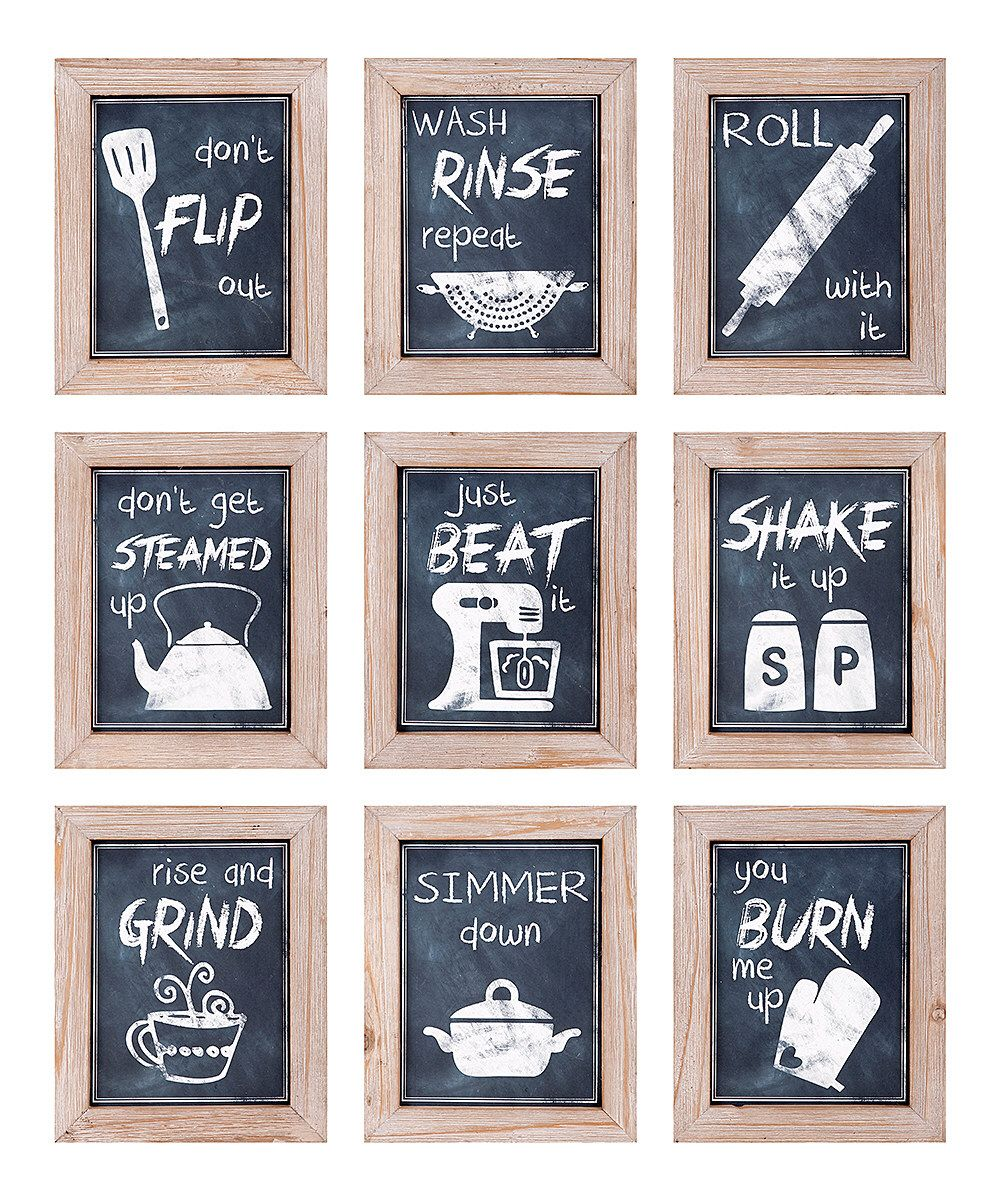 Look at this Kitchen Inspirations Wall Art - Set of Nine on #zulily ...