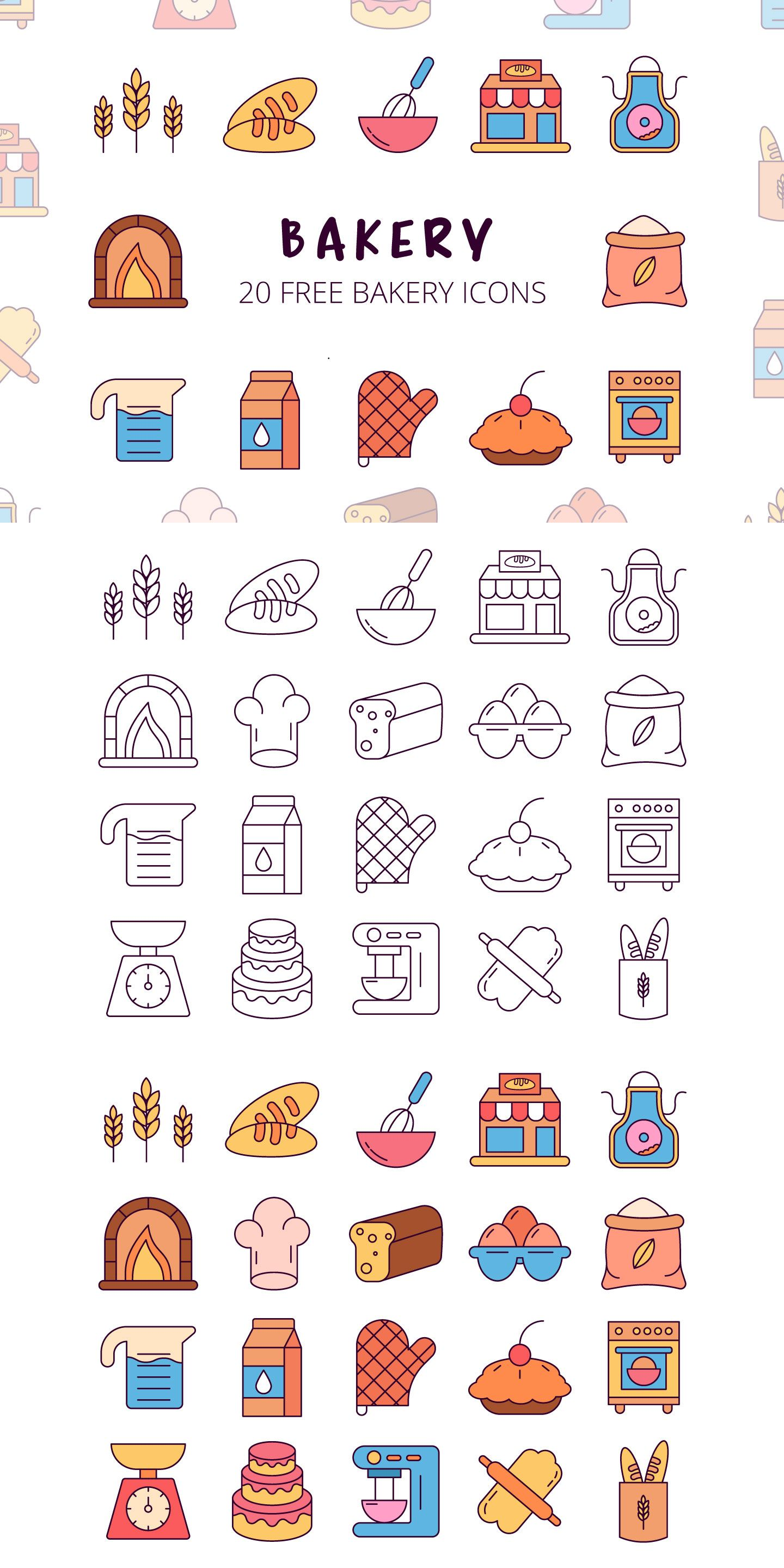 Bakery Vector Free Icon Set Is A Useful Set Free Icons Icon Set