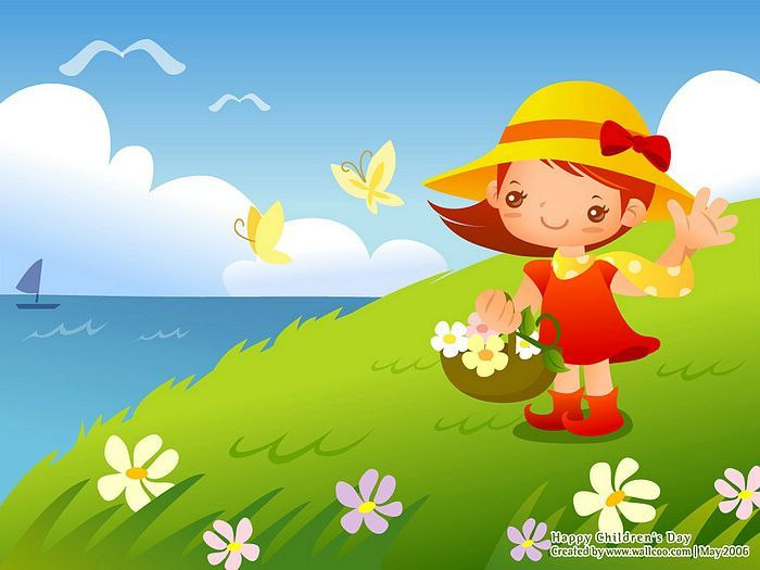 childrenss day illustrations lovely playpals vector illustration for childrens