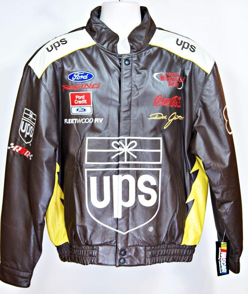 Dale jarrett vintage nascar winston cup ups leather jacket