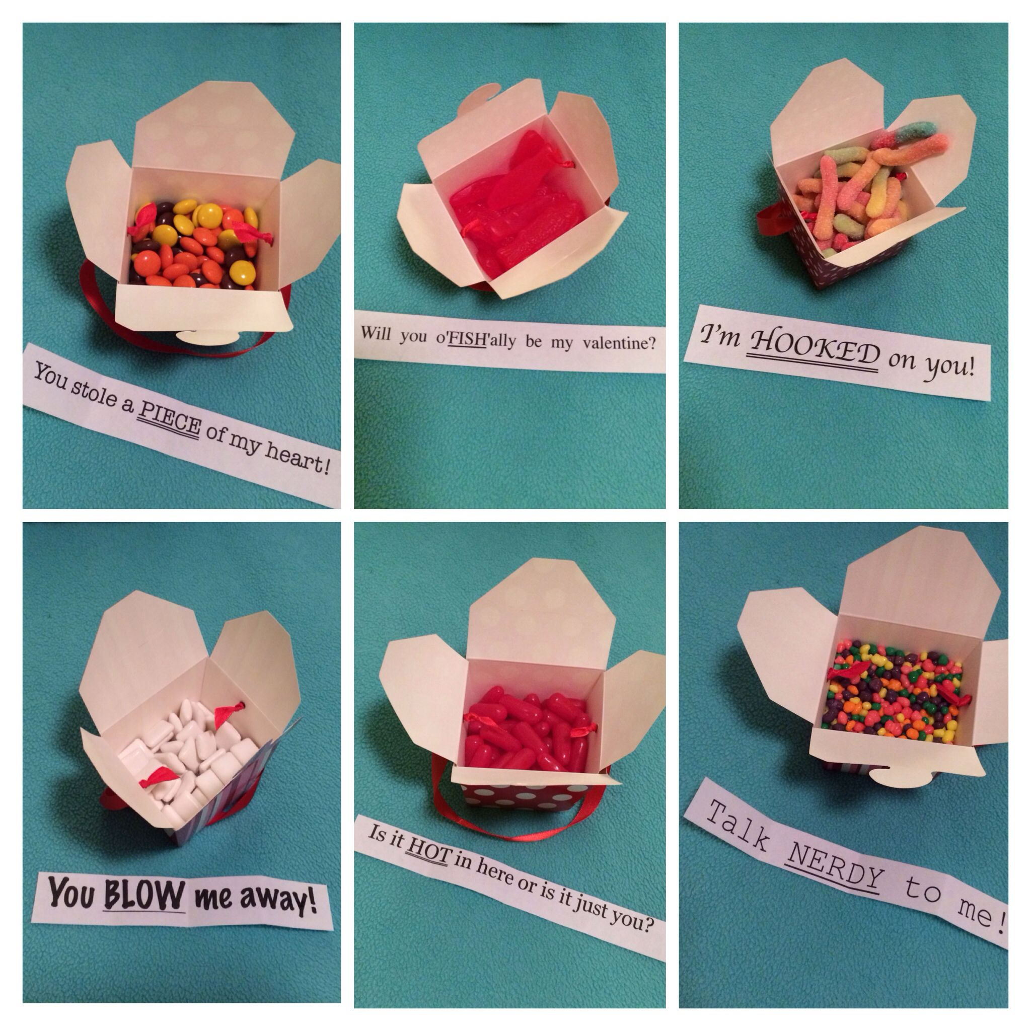 Sweet little valentine treats and notes for your boyfriend for Cute small valentines day gifts