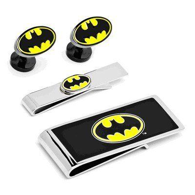 Amazon.com: Oficiall Licensed DC Comics Batman Logo Cufflinks,Tie Bar and Money Clip Gift Set: Jewelry