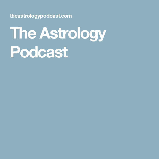 The Astrology Podcast | Chris Brennan