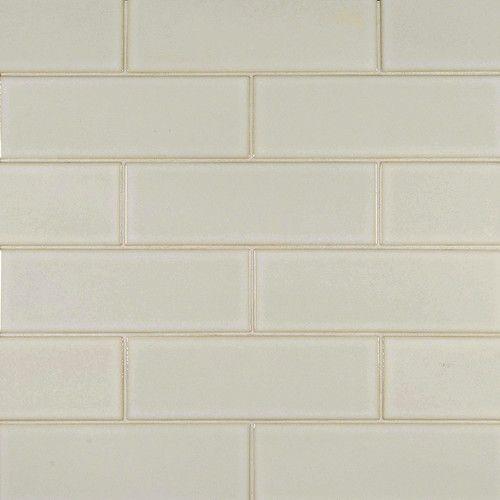 4 Quot X 12 Quot Ceramic Subway Tile In Antique White Glazed
