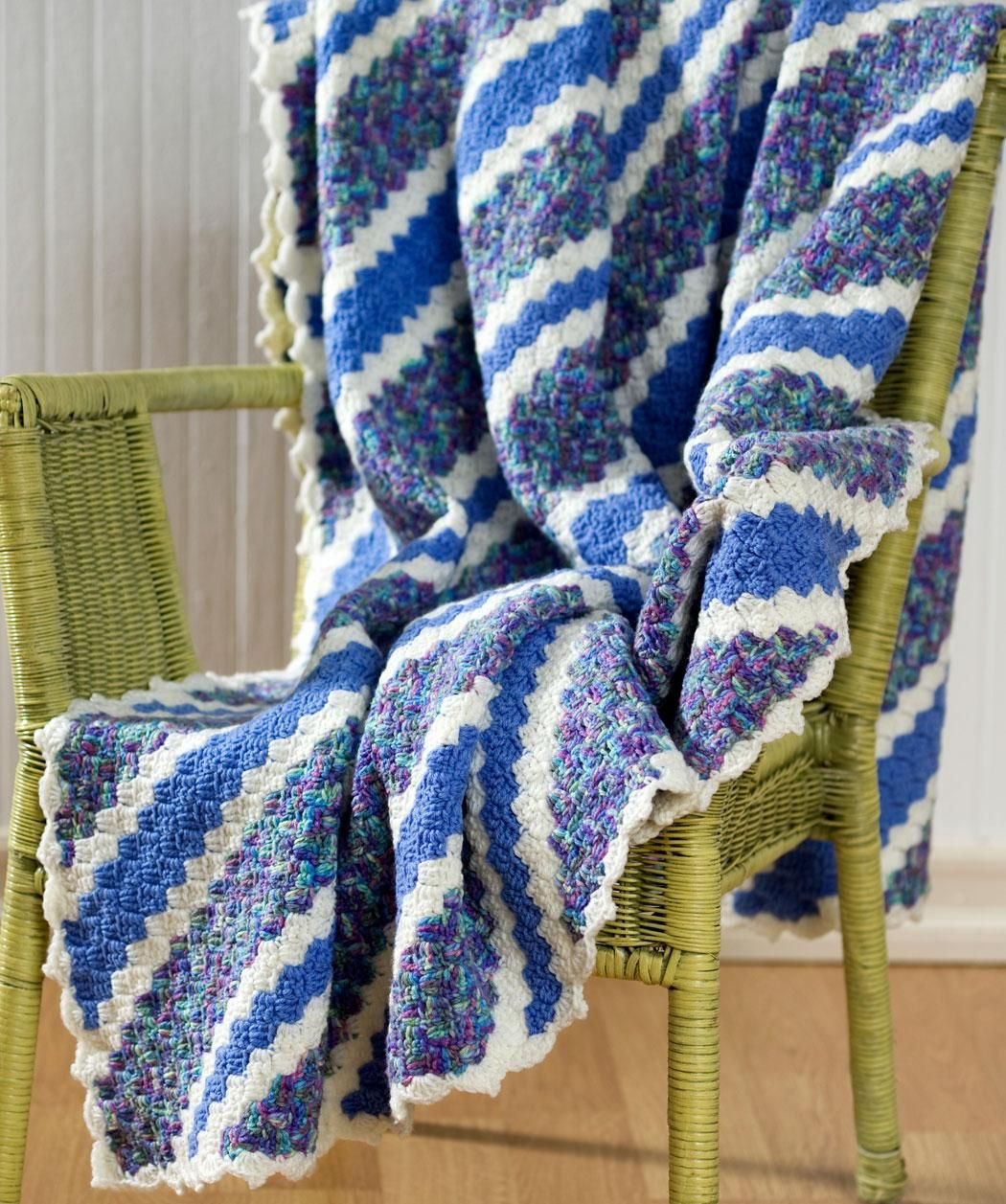 Crochet Corner-to-Corner Throw Free Pattern from Red Heart Yarns ...