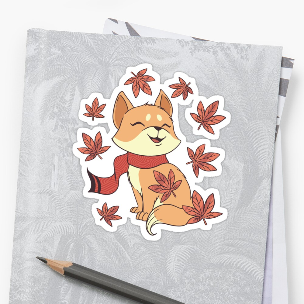 'FALL CAT CUTE AUTUMN LEAVES ' Sticker by esitostore #autumnleavesfalling
