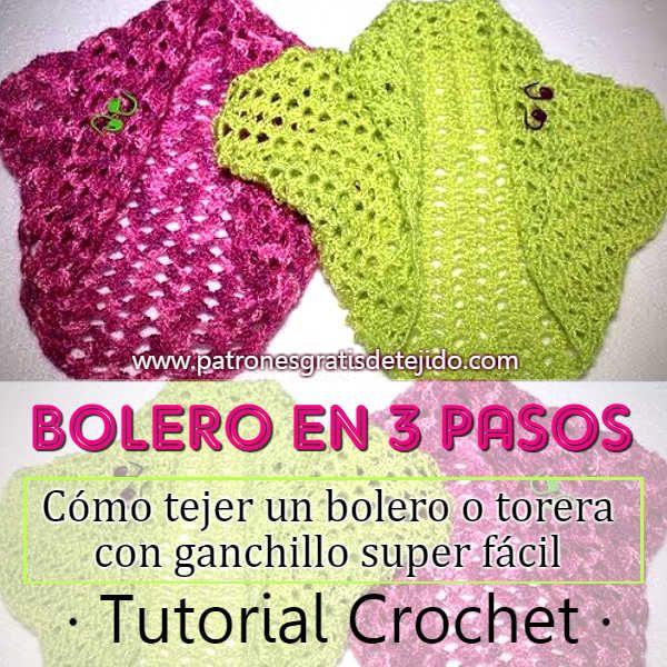 Bolero crochet paso a paso para principiantes | Crochet y Dos Agujas ...