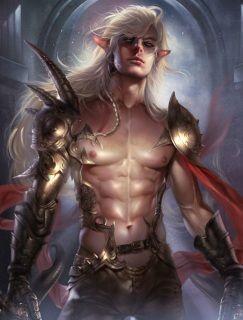 Rugged High Elf Haunted Protective Male Warrior Peach Rose Gold Ring 7 Elf Warrior Fantasy Warrior Dark Elf