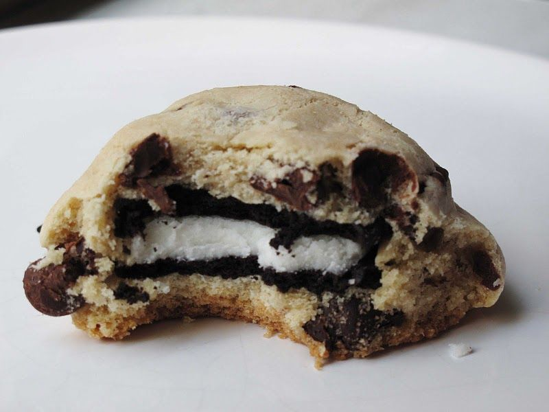 the inception cookie.  They taste wonderful, but had trouble with the chocolate chip cookie spreading out like the original pinner and they turned into UBO's.