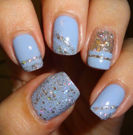 Ycc 113 Nails Inc Bluebell Bluenails Nailart Find More Nail Looks On Http Bellashoot Com Glitter Nails Stylish Nails Millennium Nails