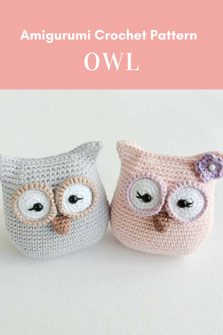Crochet Owl Pattern, PDF, Amigurumi, English and German | Crochet ...